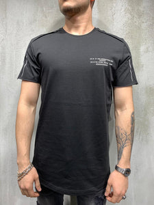 Black Printed Layered Oversized Mens T-Shirt AY428 Streetwear Mens T-Shirts