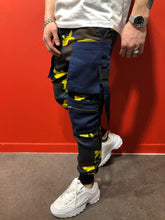Load image into Gallery viewer, Yellow Cargo Pocket Jogger Pant AY584 Streetwear Mens Pants - Sneakerjeans