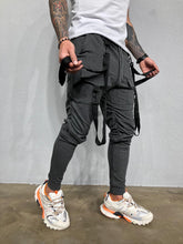 Load image into Gallery viewer, Strap Front Pocket Anthracite Joggers BL450 Streetwear Mens Jogger Pants