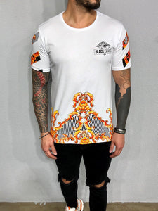 White Printed Oversized Mens T-Shirt BL468 Streetwear Mens T-Shirts