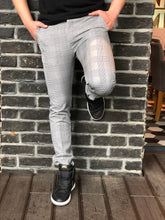 Load image into Gallery viewer, Gray Checkered Slim Fit Casual Mens Pant DJ179 Mens Pant