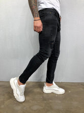 Load image into Gallery viewer, Black Ripped Jeans Slim Fit Jeans BL476 Streetwear Mens Jeans - Sneakerjeans