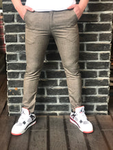 Load image into Gallery viewer, Beige Slim Fit Casual Pant DJ148 Streetwear Pant