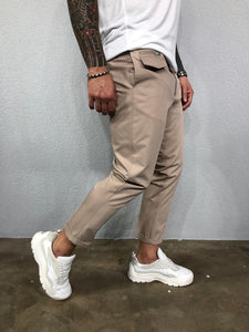 Beige Side Pocket Mens Casual Pant BL519 Streetwear Mens Pants - Sneakerjeans