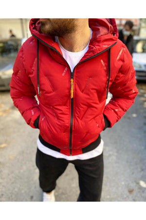Sneakerjeans Red Puffer Jacket SW-657