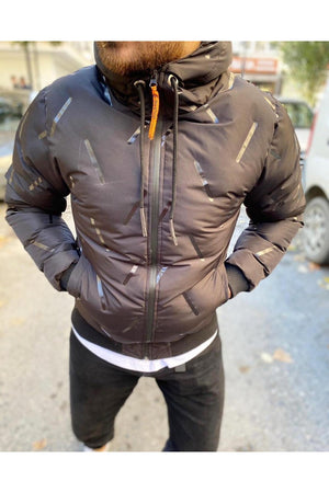 Sneakerjeans Black Puffer Jacket SW-657