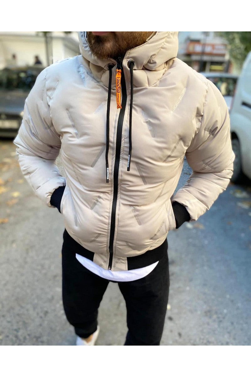Sneakerjeans Cream Puffer Jacket SW-657