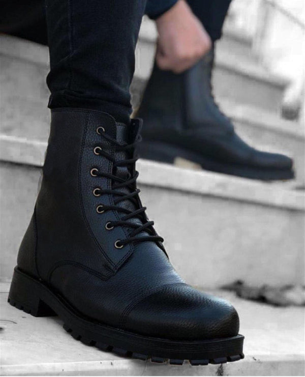 Sneakerjeans Black Combat Military Boots CH009