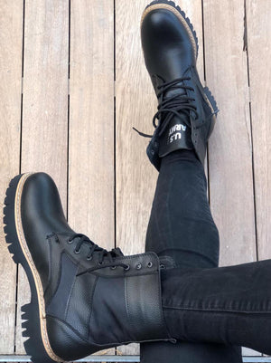 Sneakerjeans Black Combat Military Boots UPT - Sneakerjeans
