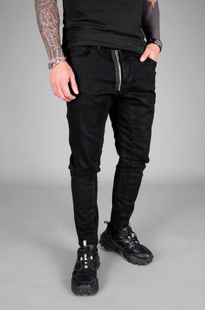 Sneakerjeans Black Zippered Skinny Jeans 5506 - Sneakerjeans