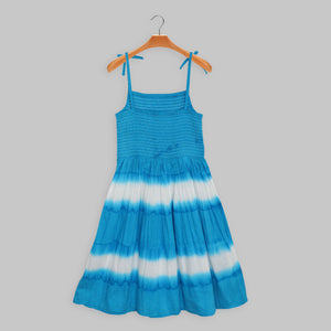 Blue White Tie-Dye Dress