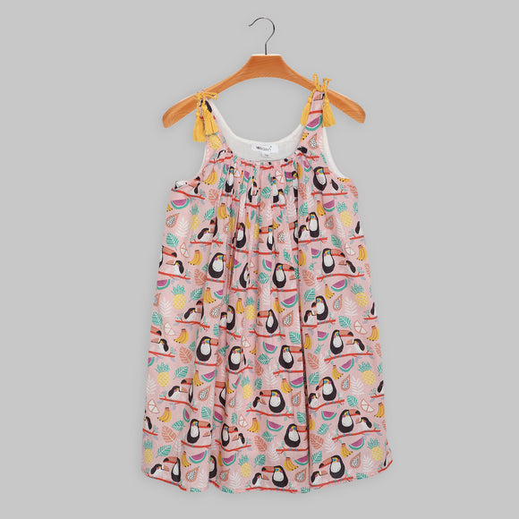 Toucan Cotton Voile Dress
