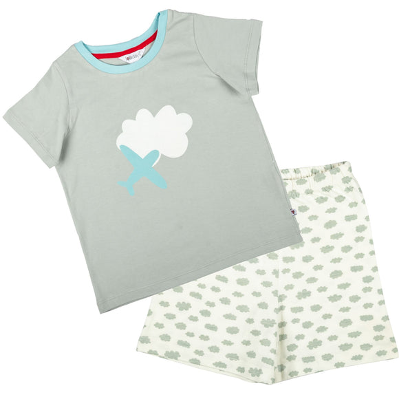Clouds Short Sleeve PJ Set - Lollidays Baby & Kids Clothing