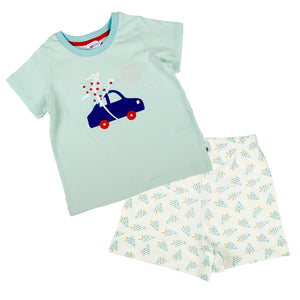 Christmas Tree Short Sleeve PJ Set - Lollidays Baby & Kids Clothing