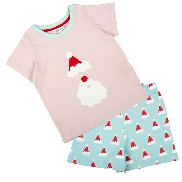 Christmas Santa Short Sleeve PJ Set - Lollidays Baby & Kids Clothing