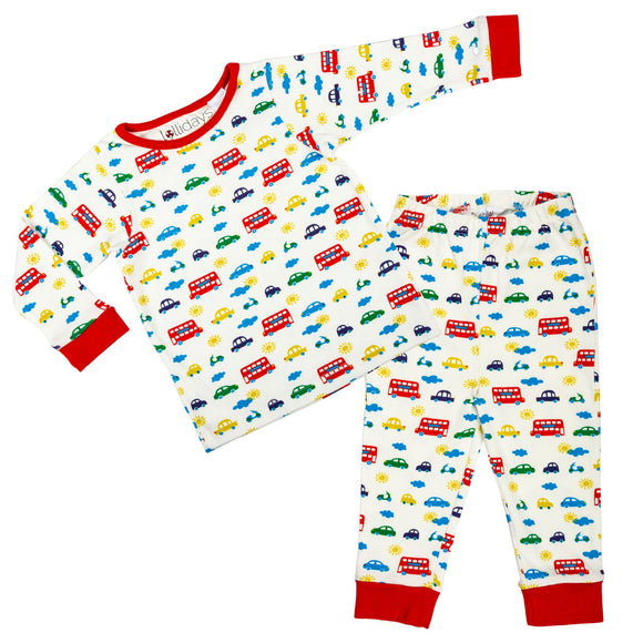 Car Print PJ Set - Lollidays Baby & Kids Clothing