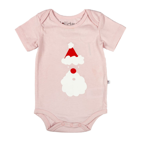 Christmas Santa Baby Pink Bodysuit - Lollidays Baby & Kids Clothing