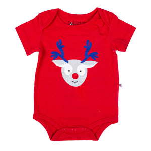 Christmas Red Reindeer Bodysuit - Lollidays Baby & Kids Clothing
