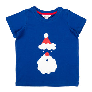 Christmas Santa Royal Blue T-Shirt - Lollidays Baby & Kids Clothing