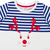 Christmas reindeer Navy Blue T-Shirt - Lollidays Baby & Kids Clothing