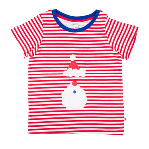 Christmas Santa Striped T-Shirt - Lollidays Baby & Kids Clothing