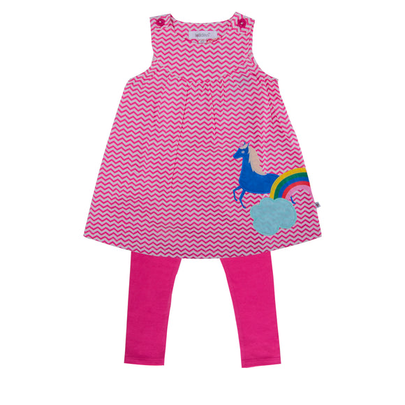 Magical Unicorn Applique Tunic Set - Lollidays Baby & Kids Clothing