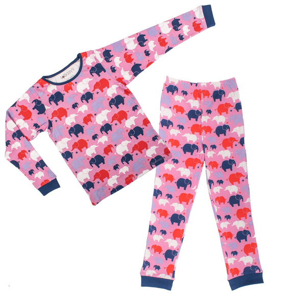 Colourful Elephants PJ Set - Lollidays Baby & Kids Clothing