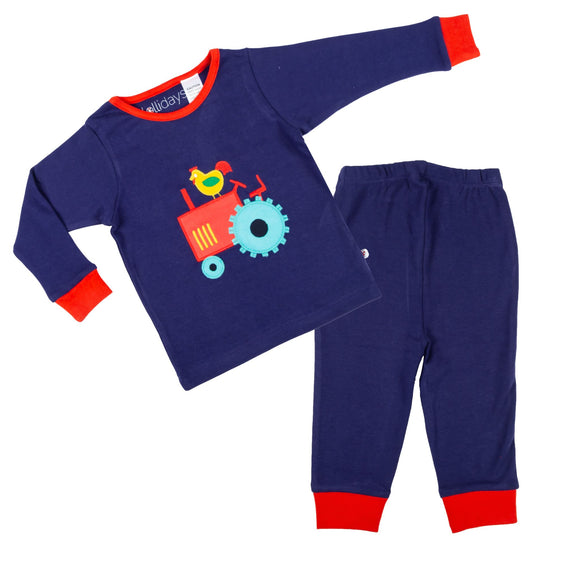 Tractor Applique PJ Set - Lollidays Baby & Kids Clothing