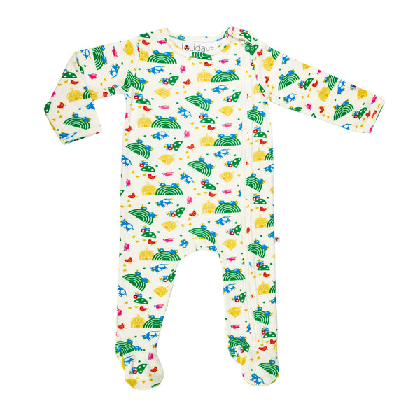 Farmyard Sleepsuit - Lollidays Baby & Kids Clothing