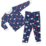 All Stars Print Blue PJ Set - Lollidays Baby & Kids Clothing