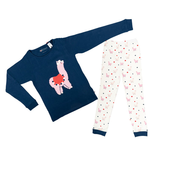 Llama Print PJ Blue - Lollidays Baby & Kids Clothing