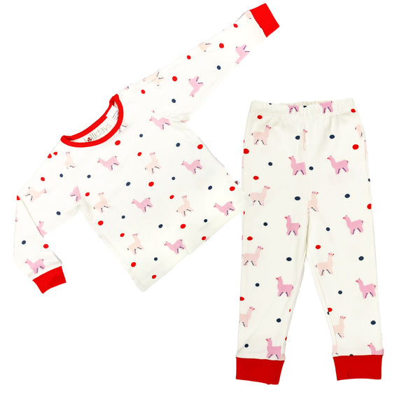 All over Llama Print PJ Set - Lollidays Baby & Kids Clothing