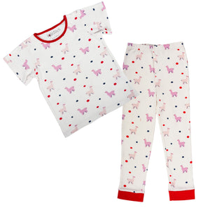 All over Llama Print Short Sleeve PJ Set - Lollidays Baby & Kids Clothing