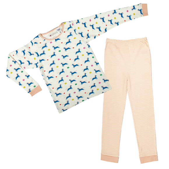 Magial Unicorn Print PJ Set - Lollidays Baby & Kids Clothing