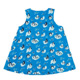 Penguin Print Pinafore Dress Set - Lollidays Baby & Kids Clothing