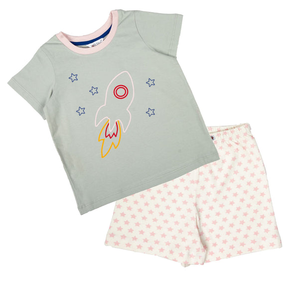 Pink Rocket Short sleeve PJ Set - Lollidays Baby & Kids Clothing
