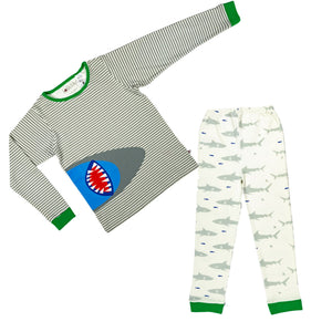 Shark Graphic PJ Set - Lollidays Baby & Kids Clothing