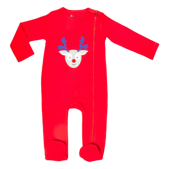 Christmas Reindeer Sleepsuit - Lollidays Baby & Kids Clothing