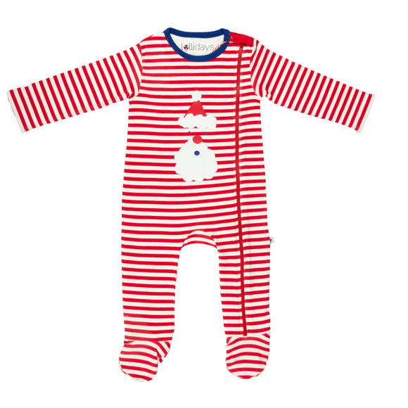Christmas Santa Stripe Sleepsuit - Lollidays Baby & Kids Clothing