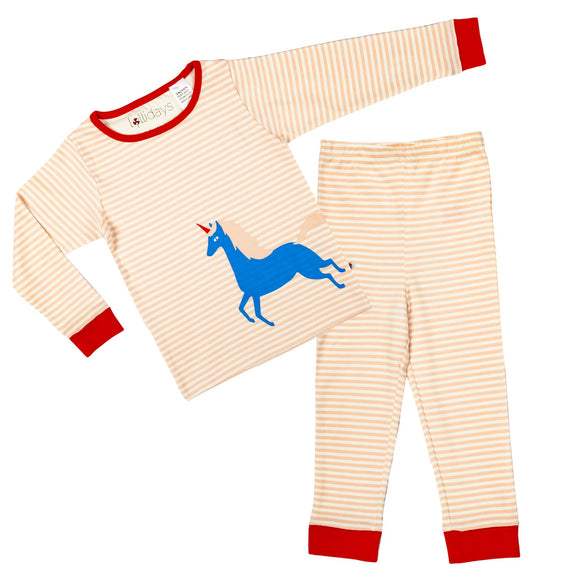 Magical Unicorn Stripe PJ Set - Lollidays Baby & Kids Clothing