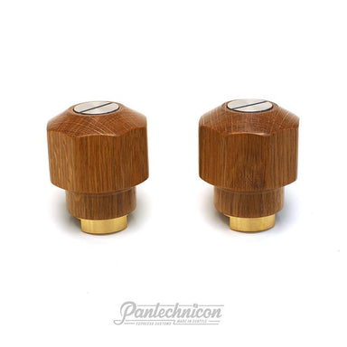 Pantechnicon LM PB Steam Knob Set, Wood/Silver
