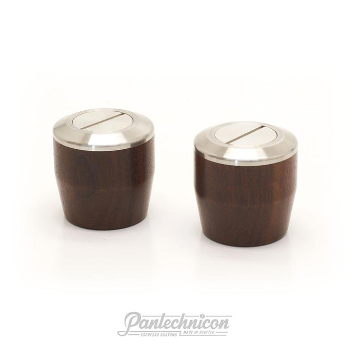Pantechnicon LM Mini Steam Knob Set, Walnut and Silver