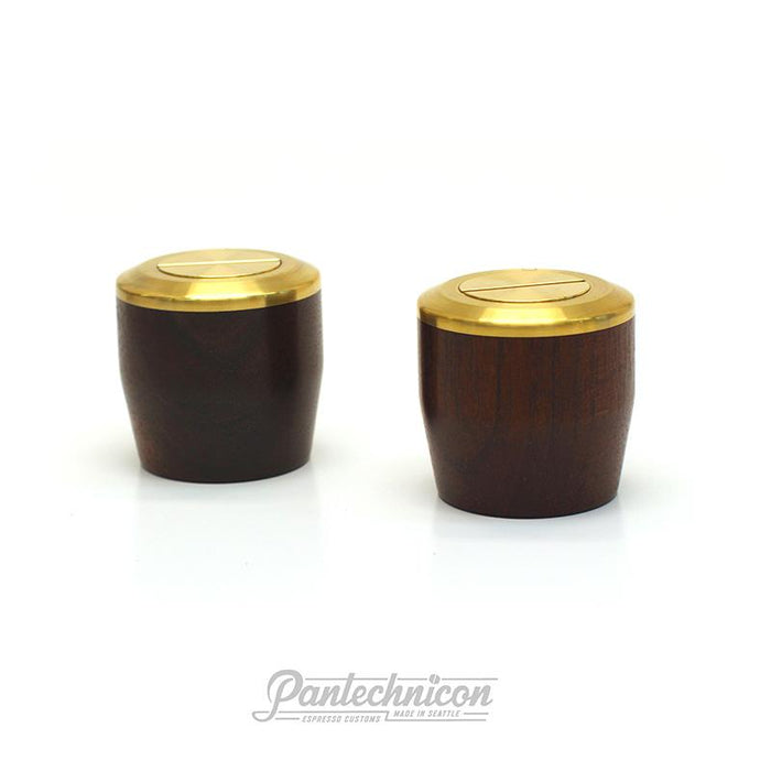 Pantechnicon LM Mini Steam Knob Set, Walnut and Brass