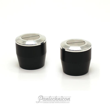 Pantechnicon LM Mini Steam Knob Set, Black and Silver