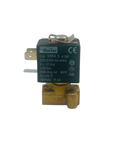 "Solenoid - Parker 2-Way Valve,  1/8"" VITON seal, Small base, 6W 240V 50/60Hz"