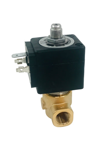 "Slayer - Steam X 3-way solenoid 24V DC Coil 1/4"" NPT"