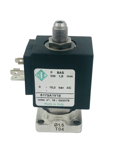 KVDW - Special 3-way Flange Valve, orifice 1.5mm; s.st., coil 230Vac (ODE)