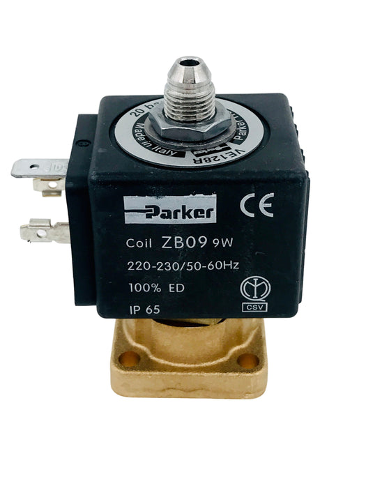 "Solenoid - Parker, Flat base solenoid, 3-way 1/8"" 230v, 50/60Hz"