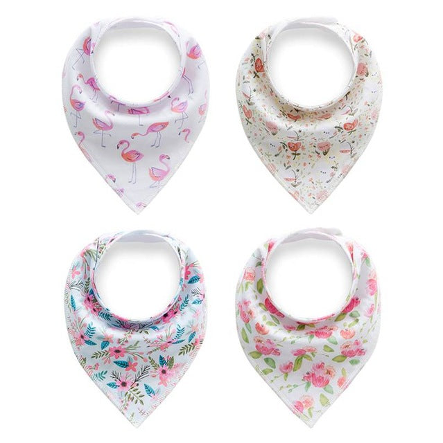 Lot de 4 bavoirs-bandana - Printemps