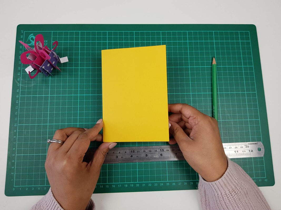 How to make a birthday pop up card tutorial - picture of the outer card cover